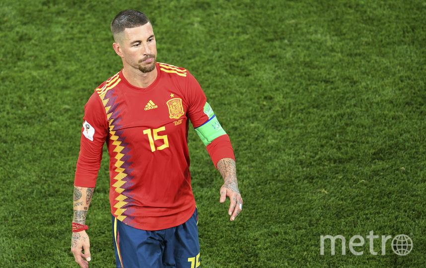 Капитан сборной Испании Серхио Рамос. Фото AFP