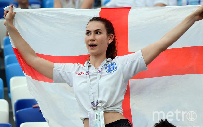 Болельщица из Англии. Фото AFP