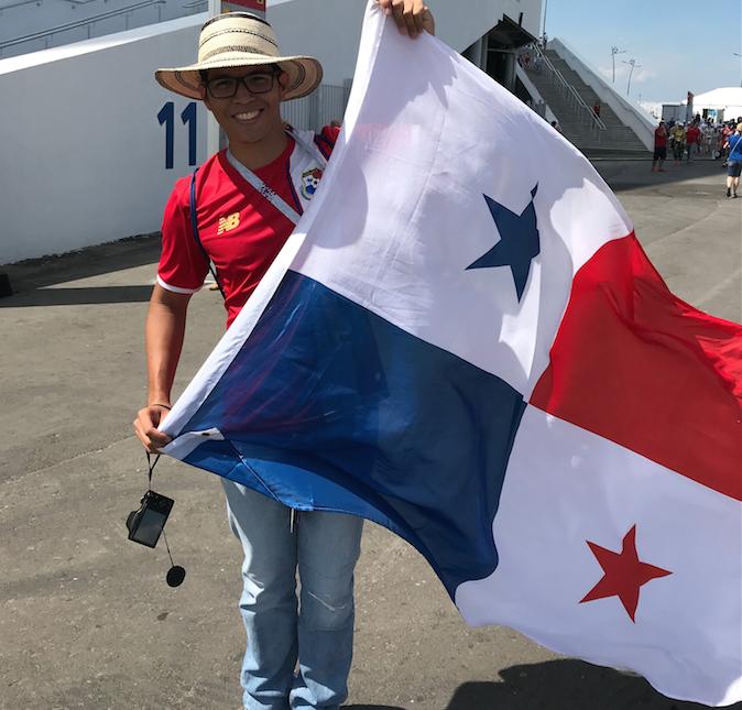 Хорхе Альберто Карранса Пинто был на историческом для Панамы матче с Коста-Рикой и теперь приехал в Россию. Фото Индира Шестакова