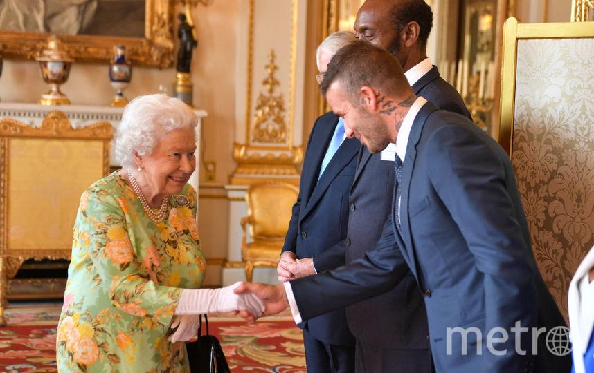 Елизавета II и Дэвид Бекхэм. Фото Getty