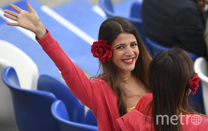 Болельщица матча Испания – Марокко. Фото AFP