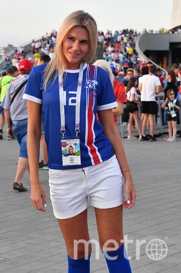 Болельщица матча Исландия – Хорватия. Фото AFP
