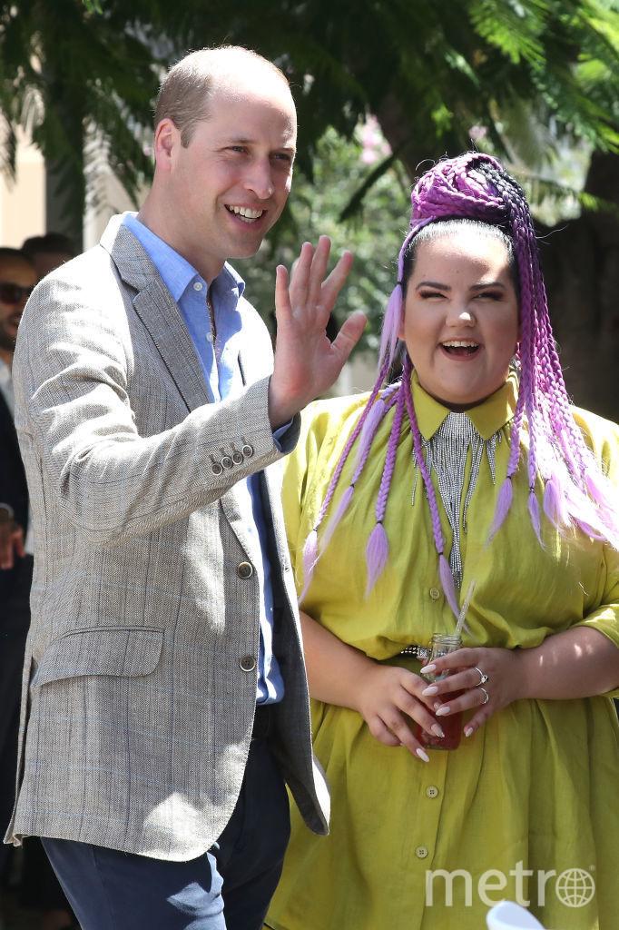 Принц Уильям и Нетта Барзилай в Тель-Авиве. Фото Getty