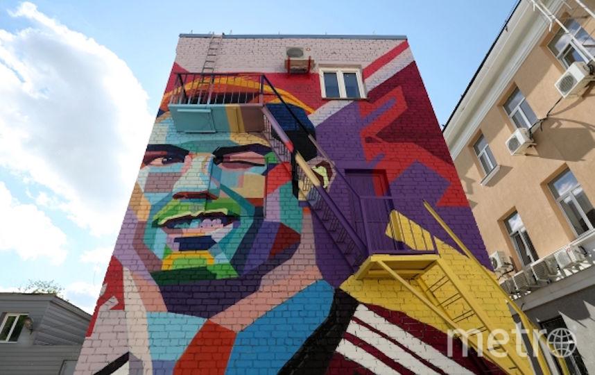 Граффити Роналду в Казани. Фото РИА Новости