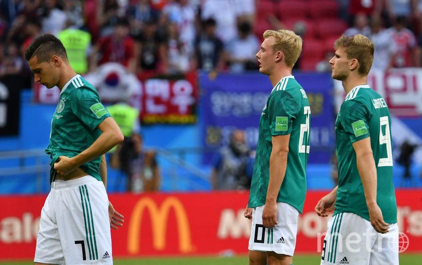 Футболисты сборной Германии разочарованы результатом. Фото AFP