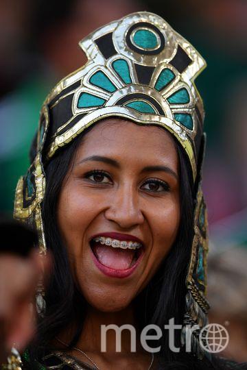 Мексиканская болельщица на матче Мексика – Швеция. Фото AFP