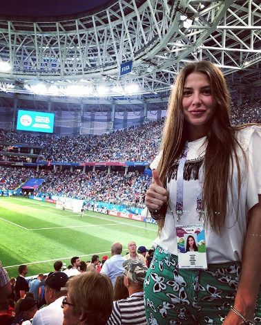 Болельщица матча Швейцария – Коста-Рико. Фото Instagram/valeryasemenchenko