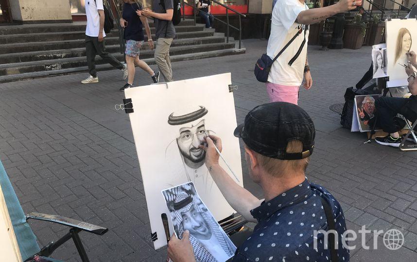 За портрет саудовец отдал 3 тыс. руб. Фото Василий Кузьмичёнок