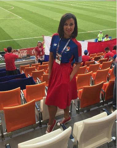 Болельщица матча Панама – Тунис. Фото Instagram/sarasovaania