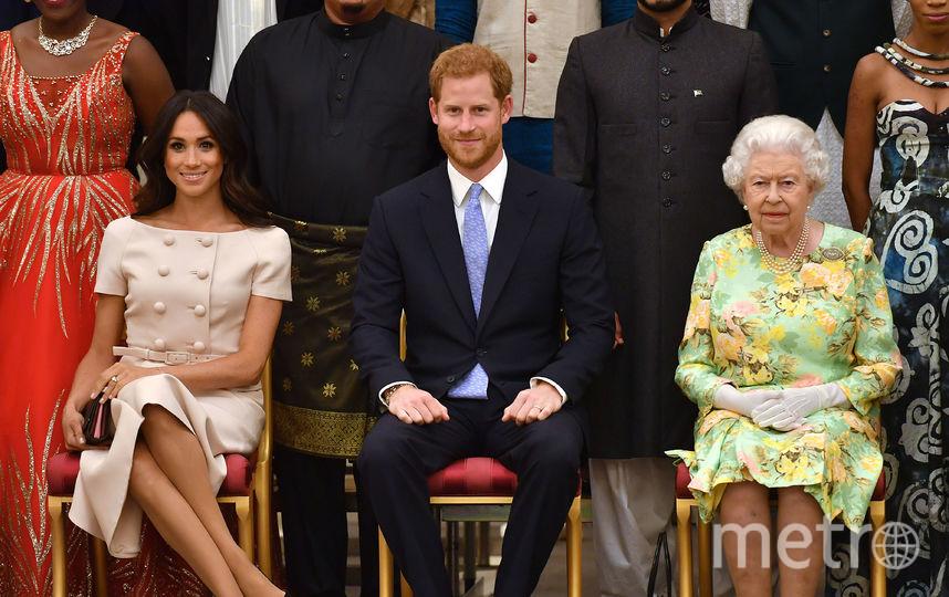 Меган Маркл, принц Гарри и королева Елизавета II. Фото Getty