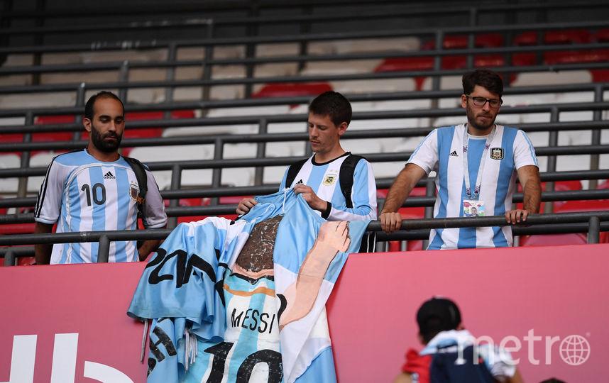Аргентинские фанаты в печали. Их команда завершила выступления в России. Фото Getty