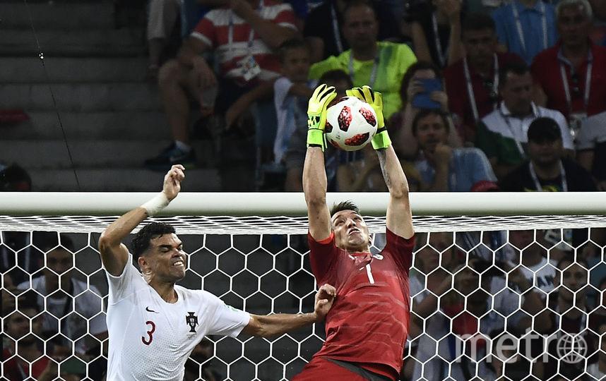 Фрагмент матча Уругвай - Португалия. Фото AFP