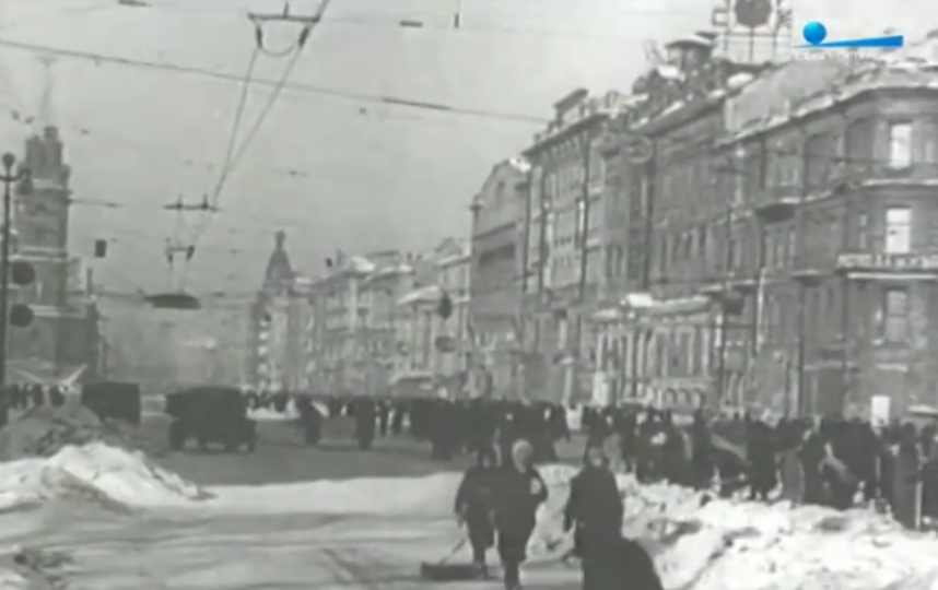 Петербург во время блокады. Фото Скриншот Youtube