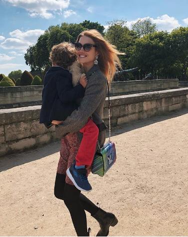 Супермодель Наталья Водянова с сыном. Фото www.instagram.com/natasupernova