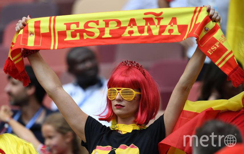 Болельщица матча Испания – Россия. Фото AFP
