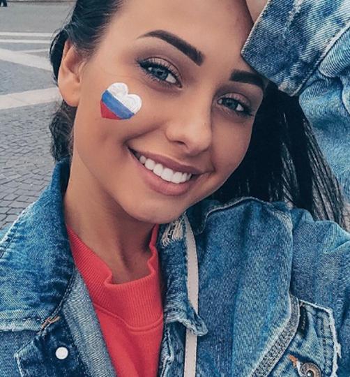 Болельщица матча Испания – Россия. Фото Instagram/elenakaraylanidi