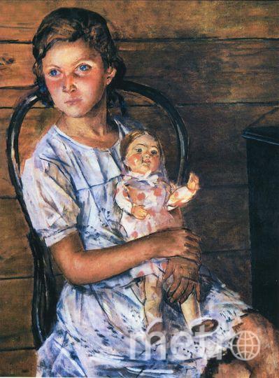 Девочка с куклой. Татьяна Пилецкая.