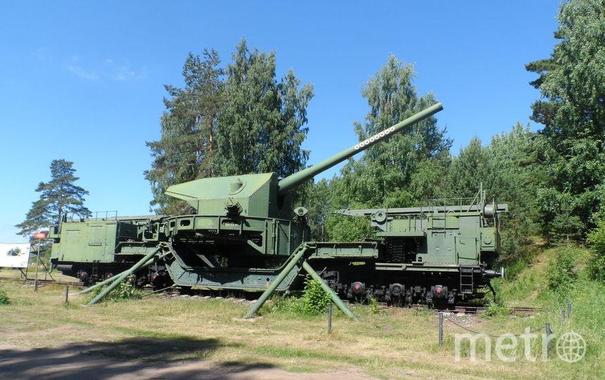 """Железнодорожная артиллерийская установка ТМ - 1 -180. Фото """"Metro"""""""