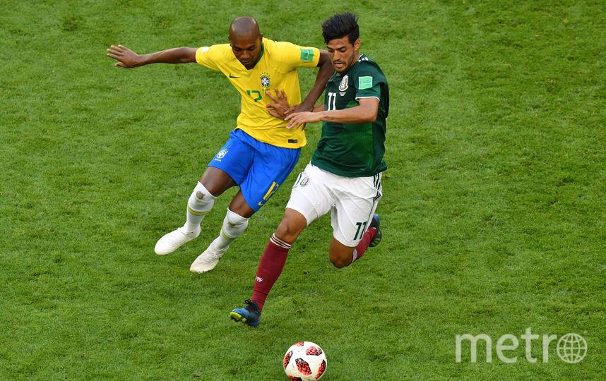 Матч Бразилия – Мексика. Фото AFP