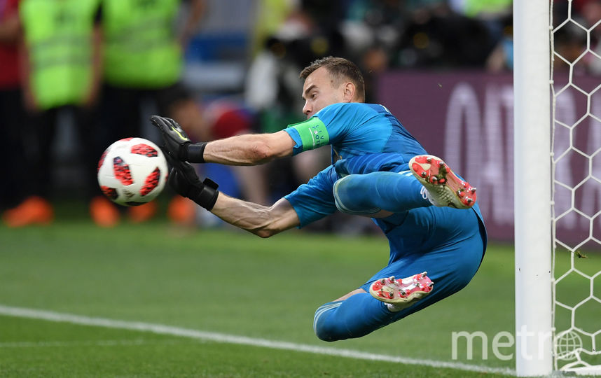Игорь Акинфеев во время матча с Испанией 1 июля 2018 года. Фото Getty