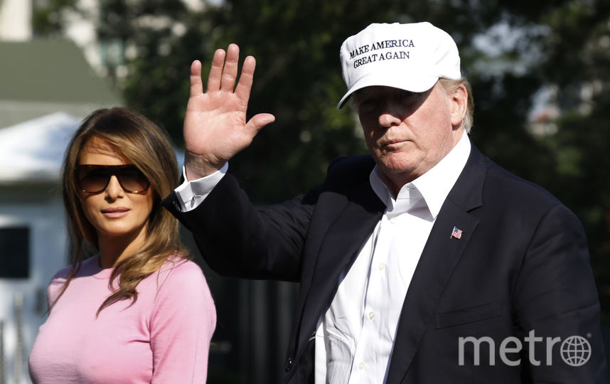 Мелания Трамп и президент США Дональд Трамп 1 июля. Фото Getty