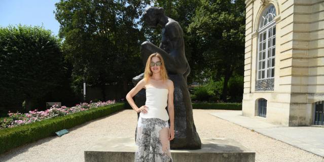 Звезды на Неделе моды в Париже. Показ Christian Dior. Наталья Водянова.