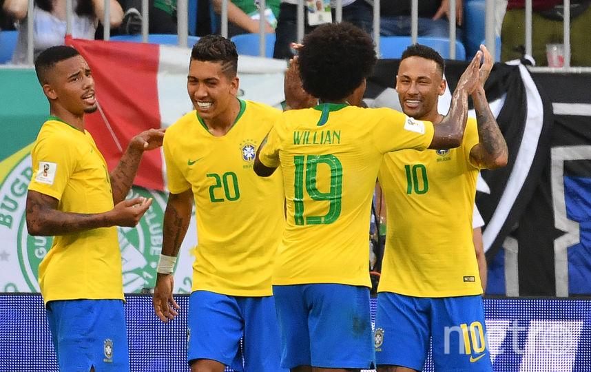 Футболисты сборной Бразилии на ЧМ–2018. Фото AFP