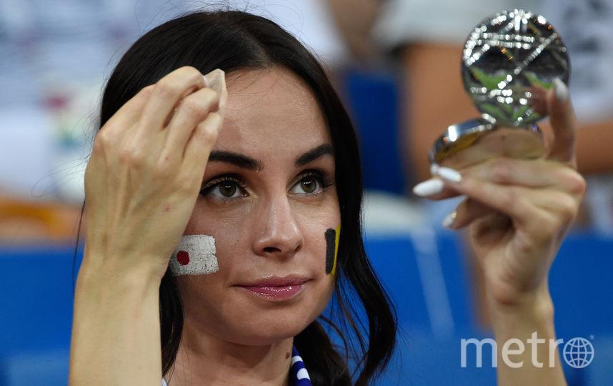 Болельщица матча Бельгия – Япония. Фото AFP