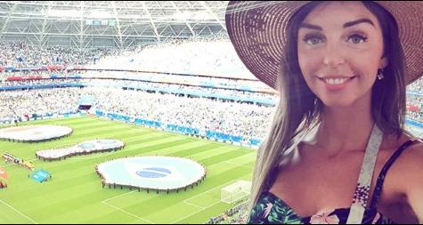 Болельщица матча Бразилия – Мексика. Фото Instagram/tatiana_kapralova