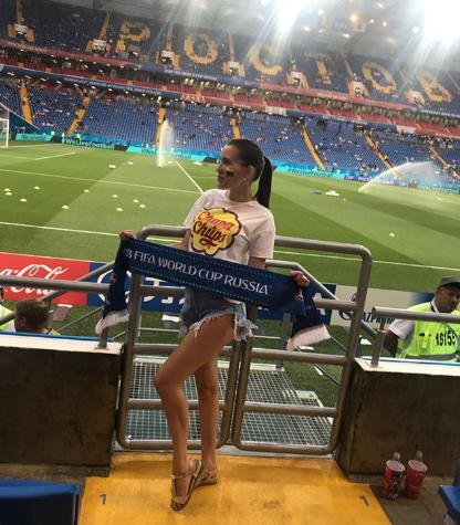Болельщица матча Бельгия – Япония. Фото Instagram/katysha_02_