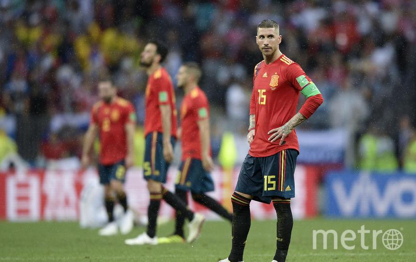 Сборная Испании в матче против сборной России. 1/8 финала ЧМ–2018. Фото AFP