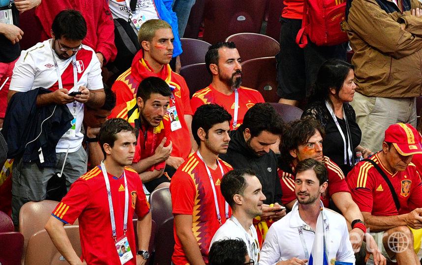 Болельщики сборной Испании в матче против России. Фото AFP