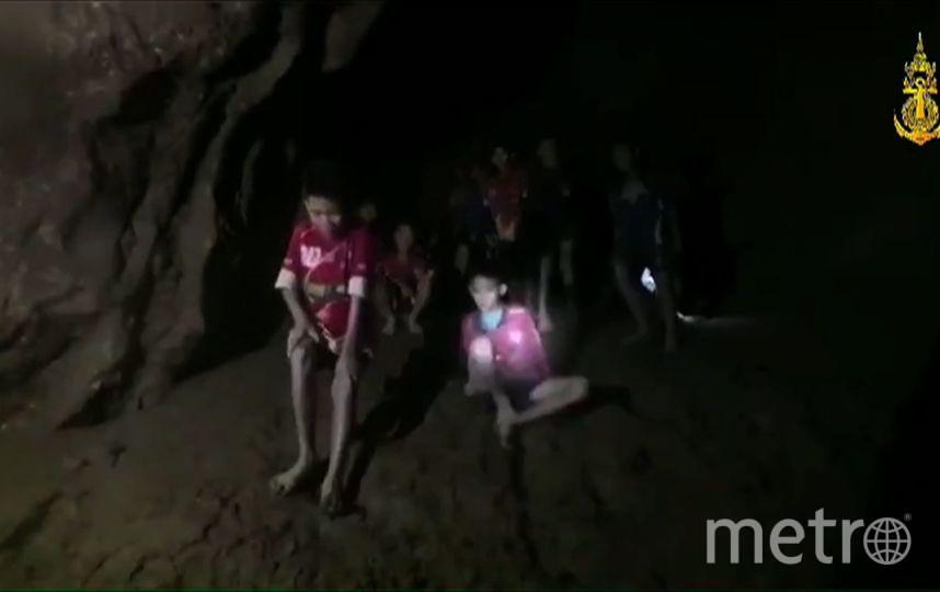 Дети из футбольной команды в пещере. Фото AFP