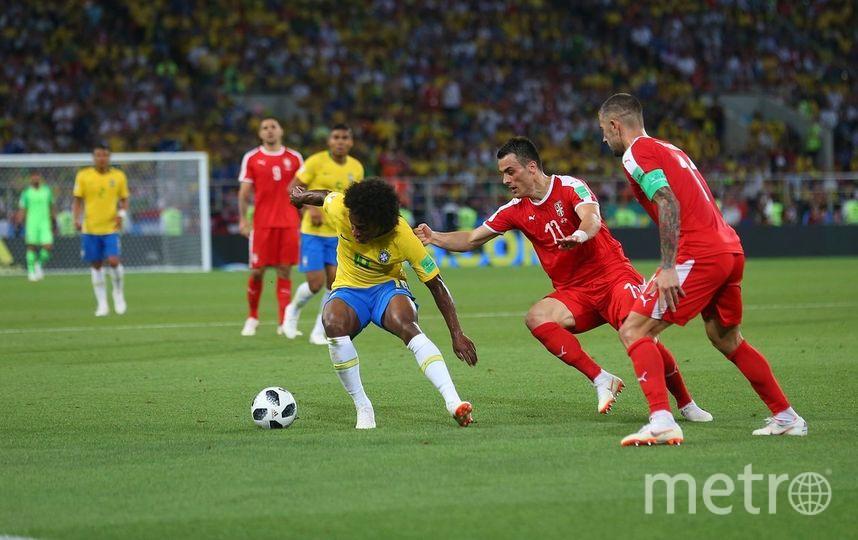 Фрагмент матча Бразилия - Сербия. Фото Василий Кузьмичёнок