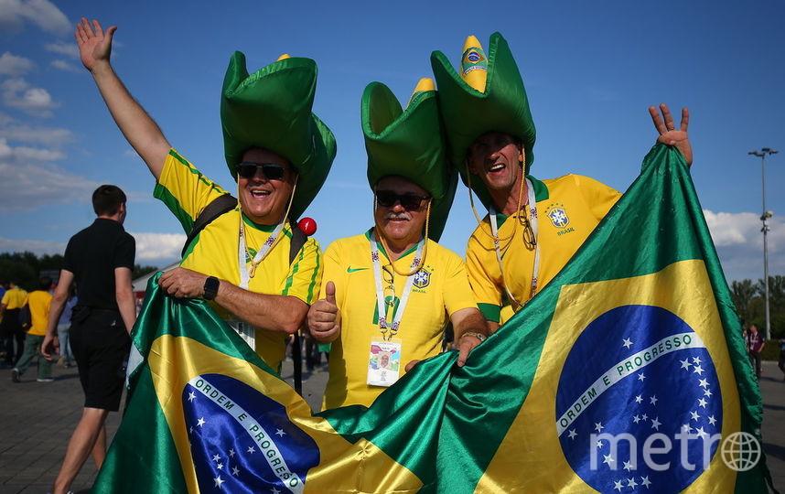 Фанаты перед матчем Бразилия - Сербия. Фото Василий Кузьмичёнок