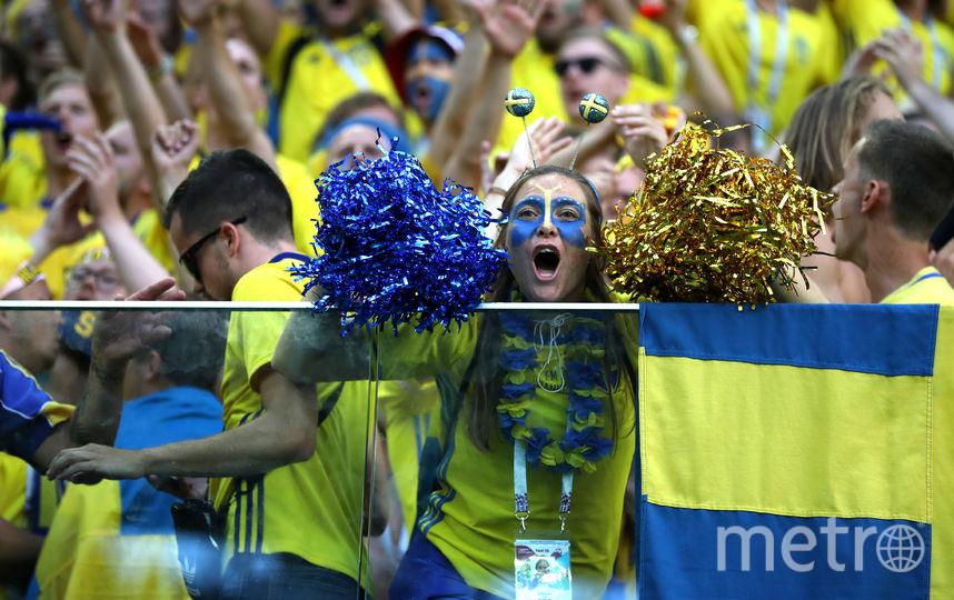 Шведские фанаты. Фото Getty