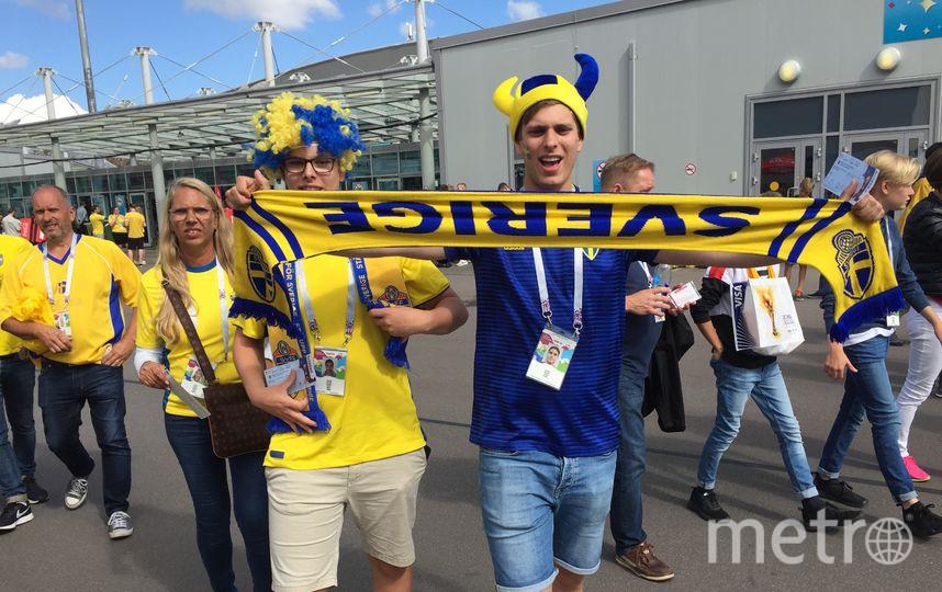 """Шведские фанаты. Фото """"Metro"""""""