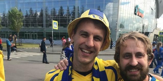 Болельщик сборной Швеции Йохан Ларсон.