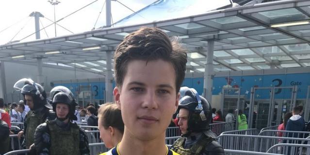 Болельщик сборной Швеции Карл Лекселиус.