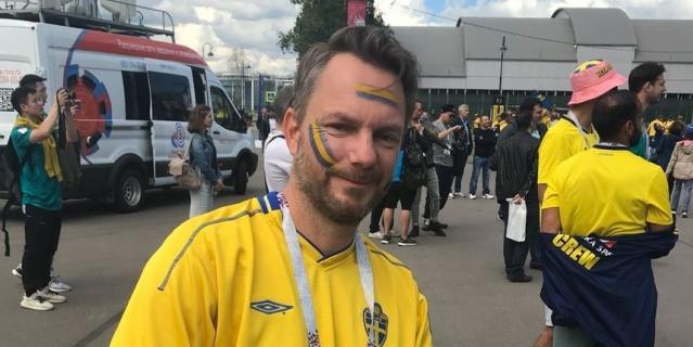 Болельщик сборной Швеции Пер Сьёрген.