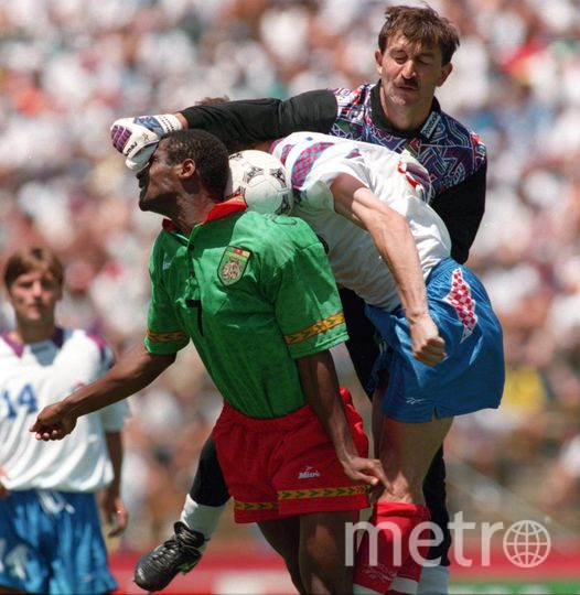 Станислав Черчесов защищал ворота сборной на матче с Камеруном на ЧМ-1994. Фото Getty