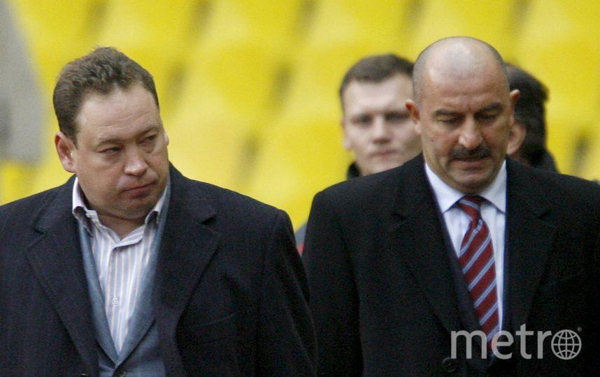Станислав Черчесов и Леонид Слуцкий. Фото Getty