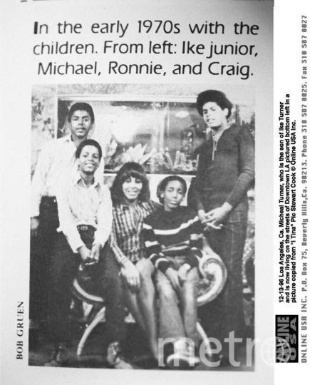 Слева - два сына Айка, рядом с Тиной - Ронни и справа - Крейг. Фото Getty