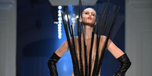 Jean-Paul Gaultier на Неделе высокой моды в Париже-2018.