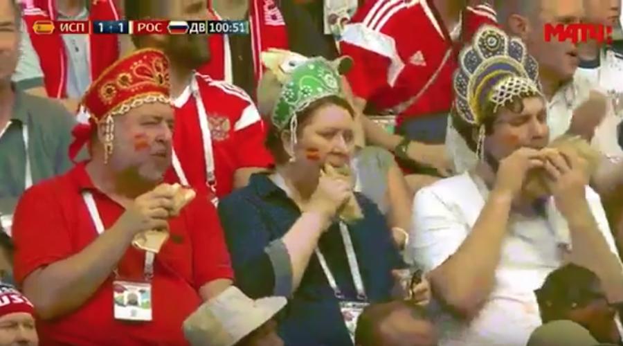 Кадр с матча Россия – Испания. Фото Скриншот Youtube/watch?v=8jzZuzf3gl4