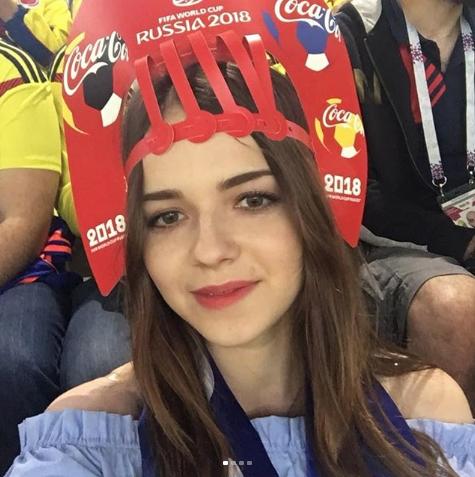 Болельщица матча Колумбия – Англия. Фото Instagram/marinalit25