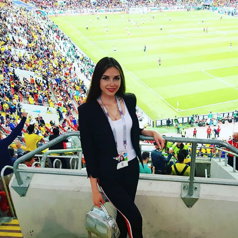 Болельщица матча Колумбия – Англия. Фото Instagram/yana_levinskaya