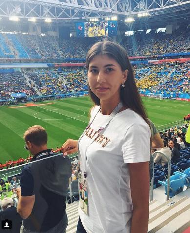 Болельщица матча Швеция – Швейцария. Фото Instagram/sokolovaaal