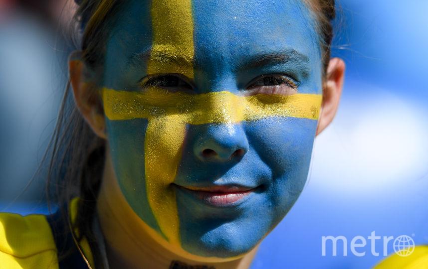 Болельщица матча Швеция – Швейцария. Фото AFP
