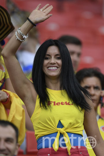 Болельщица матча Колумбия – Англия. Фото AFP